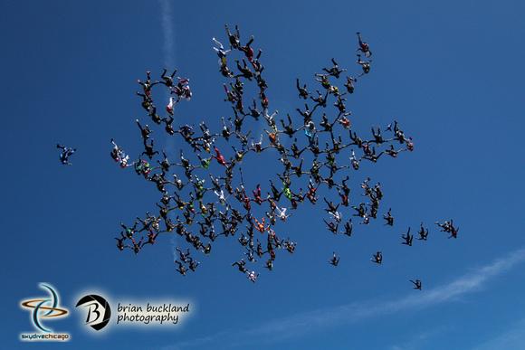 Brian Buckland Photography: Vertical World Record at Skydive Chicago &emdash; VRW2015-2086