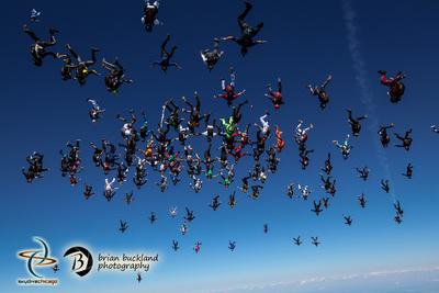 Brian Buckland Photography: Vertical World Record at Skydive Chicago &emdash; VRW2015-2713